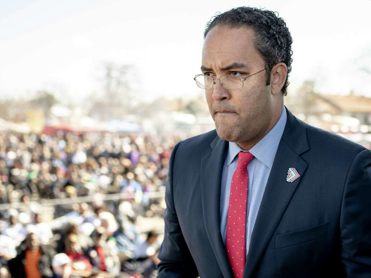 U.S. representative for Texas's 23rd congressional district Will Hurd makes his way offstage after giving his remarks during the Martin Luther King Jr. day march in San Antonio, Texas on Monday, January 21, 2019.