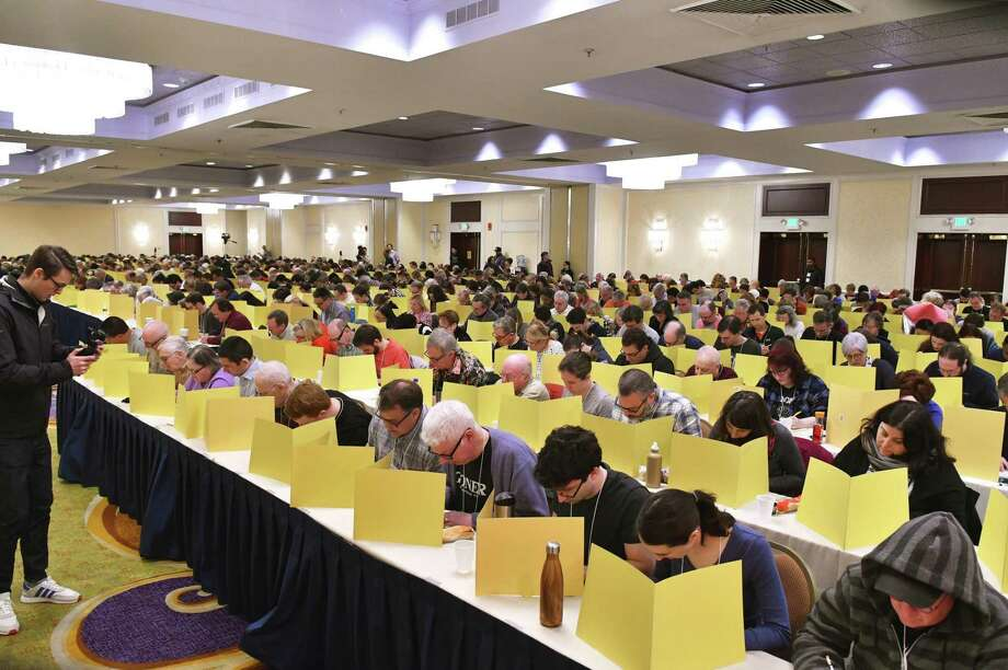 The 42nd Annual American Crossword Puzzle Tournament (ACPT) will be taking place at the Stamford Marriott March 22-24. Photo: Donald Christensen / Contributed Photo