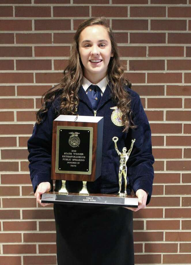 Haili Gusa received first place in Extemporaneous Public Speaking and will be competing at National Convention in the fall. (Submitted Photo)