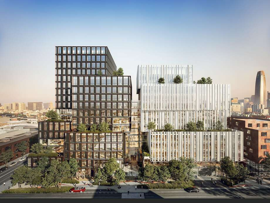 Pinterest canceled its lease for the San Francisco high-rise project 88 Bluxome, seen here in an artist's rendering. Photo: Courtesy IwamotoScott Architecture