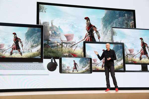 SAN FRANCISCO, CALIFORNIA - MARCH 19: Google vice president and general manager Phil Harrison speaks during the GDC Game Developers Conference on March 19, 2019 in San Francisco, California. Google announced Stadia, a new streaming service that allows players to play games online without consoles or computers. (Photo by Justin Sullivan/Getty Images)
