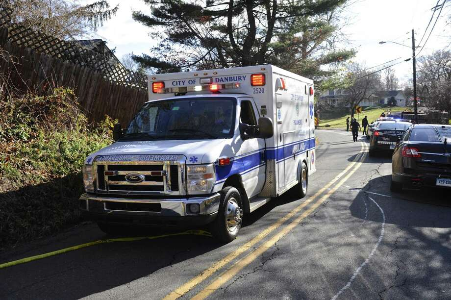 A Danbury ambulance. Photo: H John Voorhees III / Hearst Connecticut Media / The News-Times