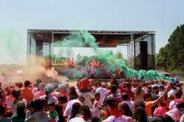 Scenes from the 10th annual Houston Holi Festival of Colors. (For the Chronicle/Gary Fountain, March 25, 2017)