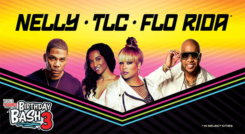Nelly, TLC and Flo Rida Nearest shows: Aug. 22, Austin at Austin 360 Ampitheater; Aug. 23, Houston at The Cynthia Woods Mitchell Pavilion; Aug. 27, El Paso at Don Haskins Center.
