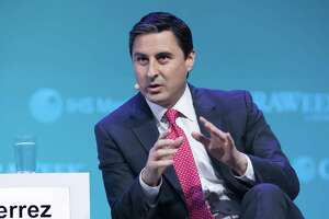 Mauricio Gutierrez, president and chief executive officer of NRG Energy Inc., speaks during the 2019 CERAWeek by IHS Markit conference in Houston, Texas, U.S., on Thursday, March 14, 2019. The program provides comprehensive insight into the global and regional energy future by addressing key issues from markets and geopolitics to technology, project costs, energy and the environment, finance, operational excellence and cyber risks. Photographer: F. Carter Smith/Bloomberg