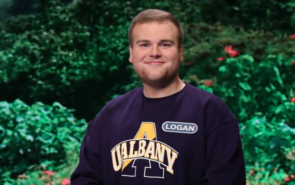 Logan Stone - a University at Albany student from Ballston Lake, N.Y. - will be a contestant on Wheel of Fortune on Thursday, March 21, 2019