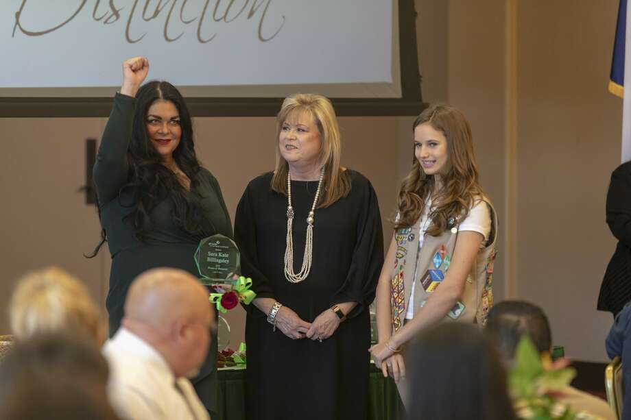 Sara Kate Billingsley is honored at the 28th West Texas Women of Distinction hosted by the Girl Scouts of the Desert Southwest on Tuesday, March 19, 2019 at Odessa Country Club. Photo: Jacy Lewis/191 News