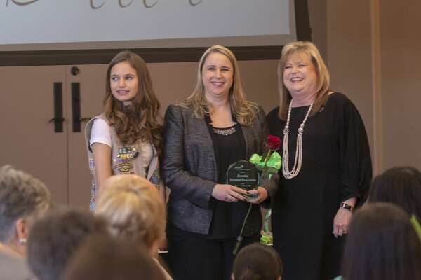 Brooke Hendricks-Green is honored at the 28th West Texas Women of Distinction hosted by the Girl Scouts of the Desert Southwest on Tuesday, March 19, 2019 at Odessa Country Club.