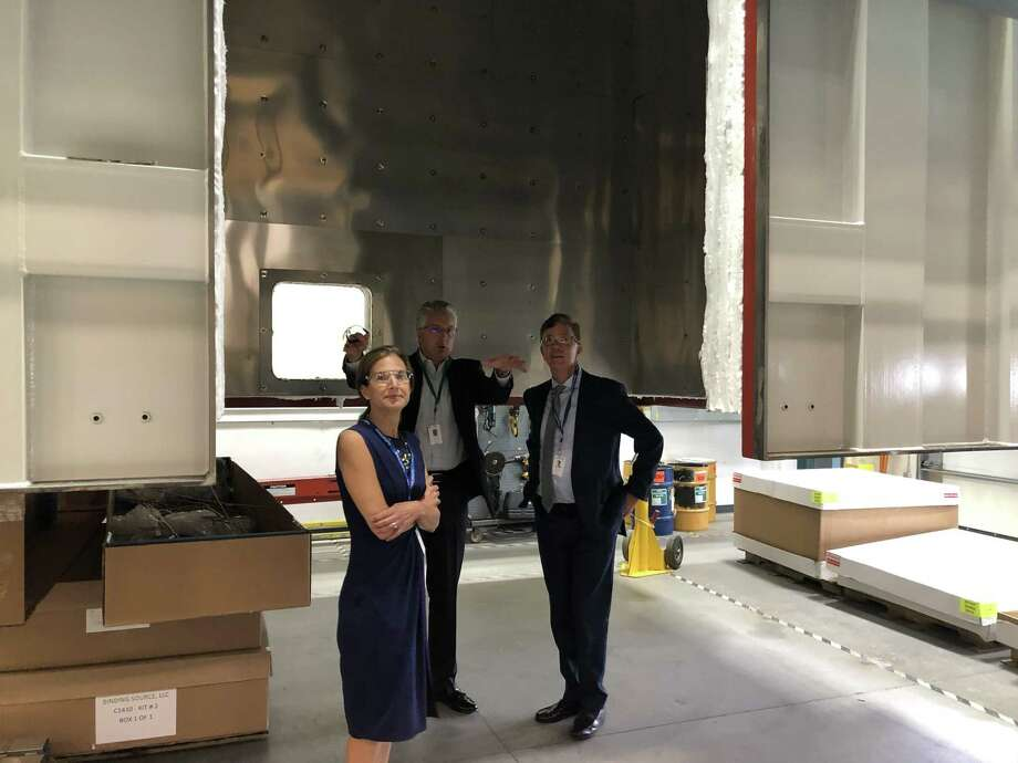While on the campaign trail earlier in August, Democrats Susan Bysiewicz and Ned Lamont visited Fuel Cell Energy in Torrington to discuss business growth in the state. Photo: Contributed Photo