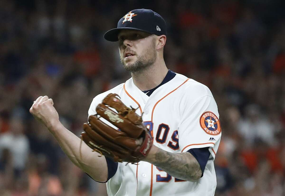 After he was acquired by the Astros last July, Ryan Pressly allowed only two earned runs in 231/3 innings, striking out 32 and walking only three.