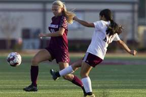 Magnolia forward Erin Mooneyham (16) was selected as the District 19-5A Midfielder of the Year.