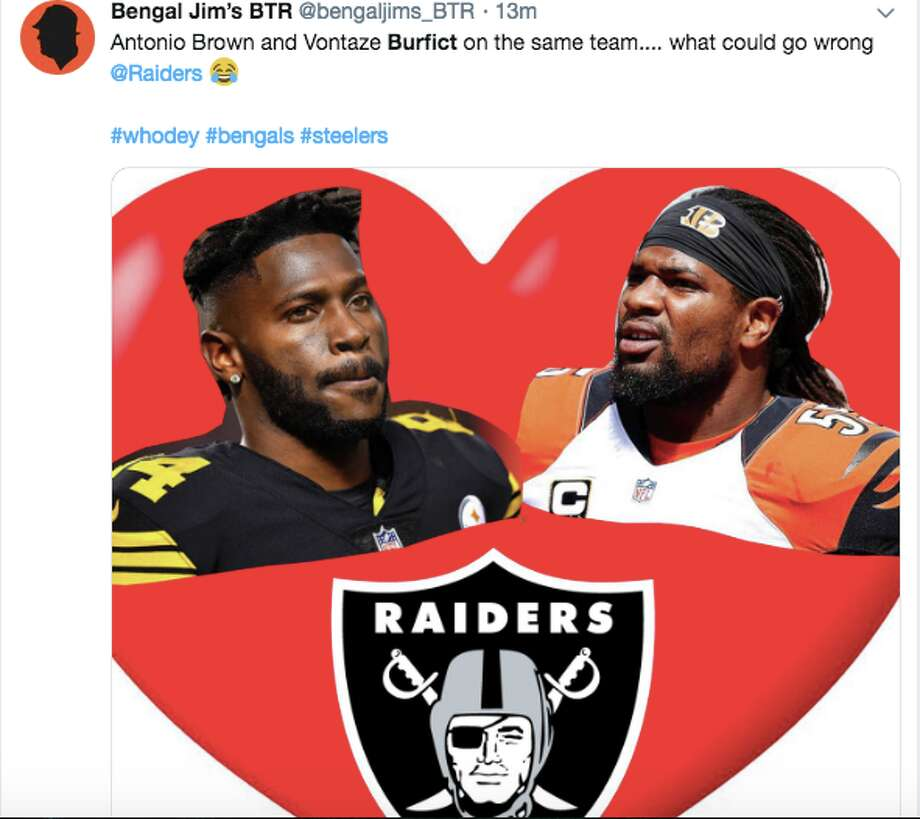 NFL Twitter reacts to the Raiders signing former Bengals linebacker Vontaze Burfict. Photo: Twitter
