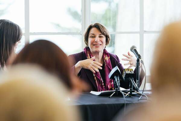 2020 Democratic presidential candidate U.S. Senator Amy Klobuchar (D-MN) speaks during a campaign stop discussing climate change in San Francisco, Calif., on Tuesday, March 19, 2019.
