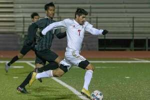 FILE PHOTO — Caney Creek junior Leodan Pacheco scored two goals for the Panthers on Tuesday as they beat Montgomery 5-0 and wrapped up their first-ever district championship.