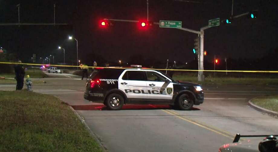 A man was fatally struck by a vehicle early Wednesday while walking in a crosswalk at W. Fuqua and Hillcroft, according to police. The suspect remains at large. Photo: Metro Video
