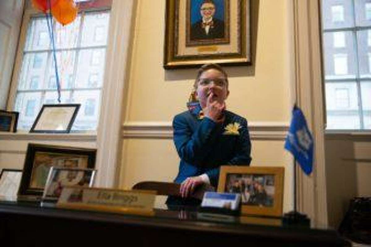 Ella Briggs serves as the state's kid's governor in Hartford.