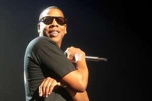 Recording artist Jay-Z performs at Hammerstein Ballroom Sunday, Nov. 11, 2007 in New York. (AP Photo/Gary He)