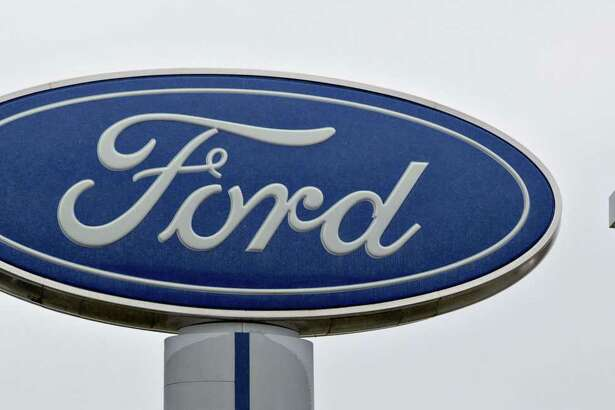 The Ford Motor Co. logo at a car dealership in Matteson, Ill..