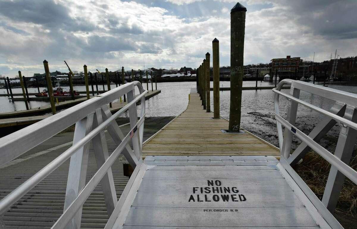 The Visitors Docks at Veterans Memorial Park.