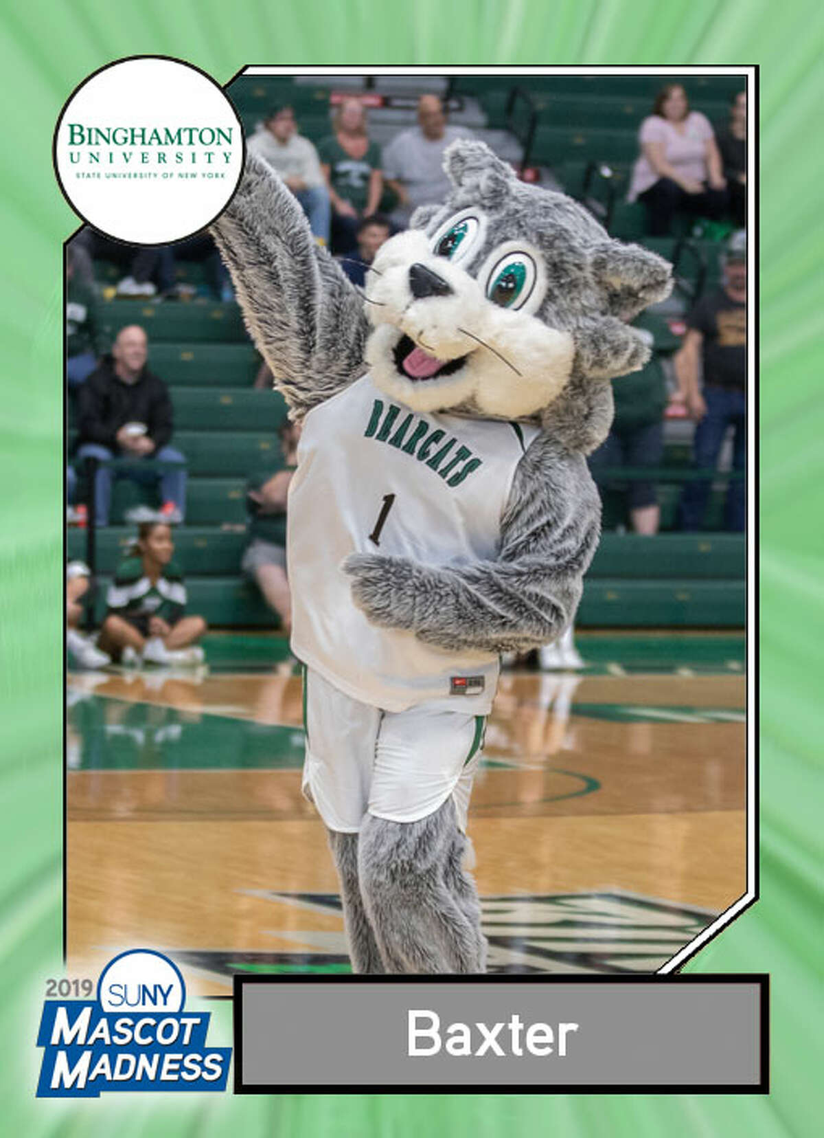 Baxter, Binghamton University Wackiest attribute:
