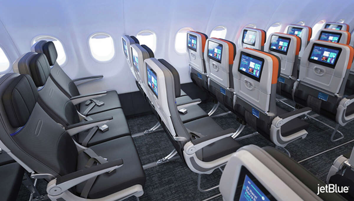 JetBlue's refitted A320s have bigger video screens and more entertainment options.