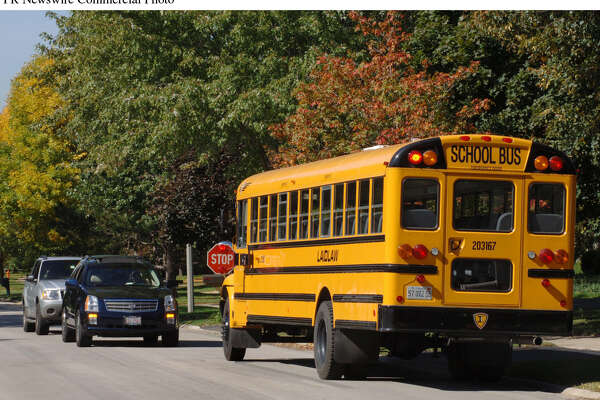 """Nearly 24 million children ride school buses each day. October 15-21 is National School Bus Safety Week and Laidlaw Education Services, a leader in student transportation, would like to remind motorists to """"Stop for the Bus!"""" Passing a stopped school bus with stop arm and front crossing gate extended and red lights flashing while children are boarding or unloading is illegal in all 50 states. Keep children safe as they ride to and from school. Always """"Stop for the Bus!""""."""