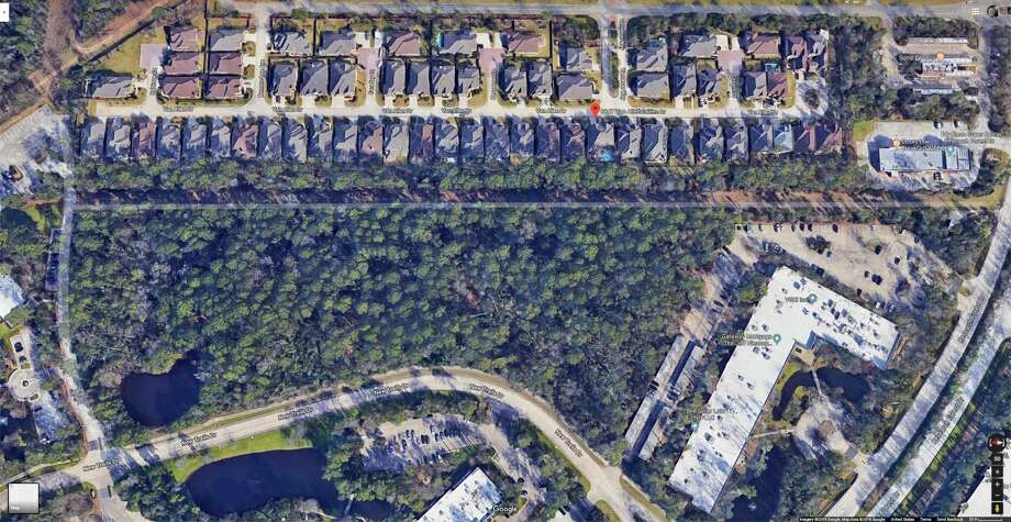 These maps and renderings show the area where a new four-story office building and multi-level parking garage are planned. The building would be owned by The Woodlands Development Company/Howard Hughes Corp. but rented out to Alight Solutions, a human resources firm with more than 900 employees. Photo: Courtesy Images/The Woodlands Township / Courtesy Images/The Woodlands Township