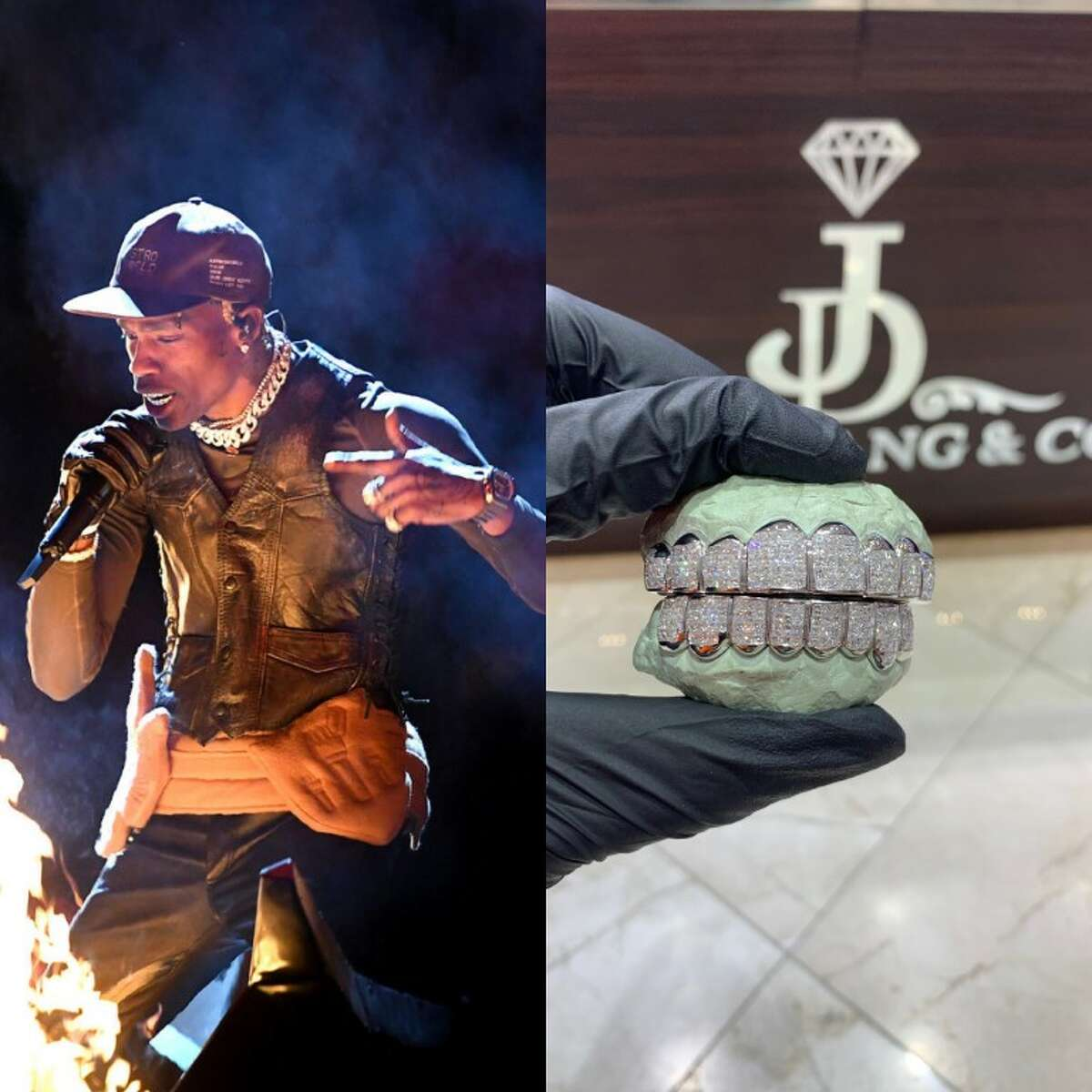 Houston rapper Travis Scott owns five grill sets by Dang.