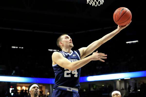 CINCINNATI, OHIO - FEBRUARY 24: Joe Cremo #24 of the Villanova Wildcats shoots the ball against the Xavier Musketeers at Cintas Center on February 24, 2019 in Cincinnati, Ohio. (Photo by Andy Lyons/Getty Images)