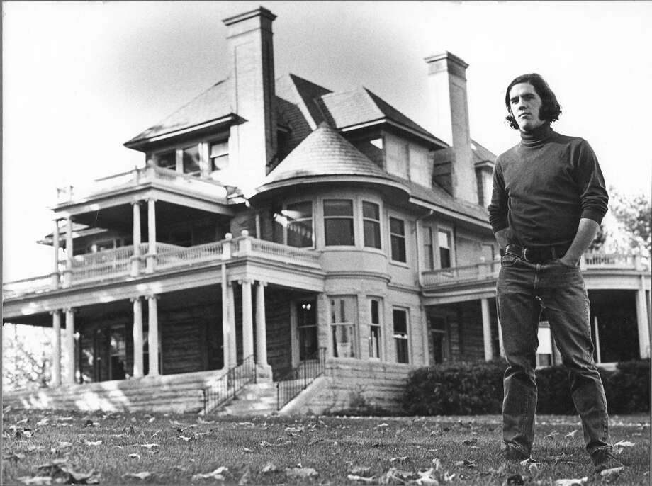 The Mead House in Greenwich, seen here in the 1970s with cartoonist Brian Walker, was the Museum of Cartoon Art's first home. Photo: Contributed Photo