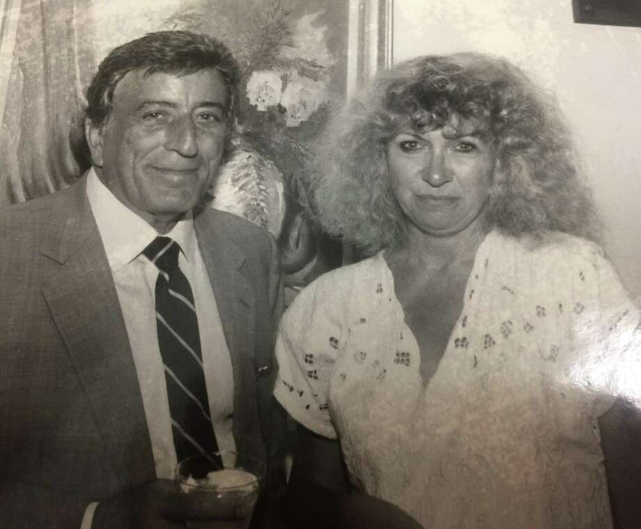 Papazian interviews crooner Tony Bennett, one of many celebrity encounters during her long career as a reporter. Below, Papazian makes use of her mother's orange squeezer. Photo: Contributed Photos