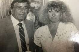 Papazian interviews crooner Tony Bennett, one of many celebrity encounters during her long career as a reporter. Below, Papazian makes use of her mother's orange squeezer.