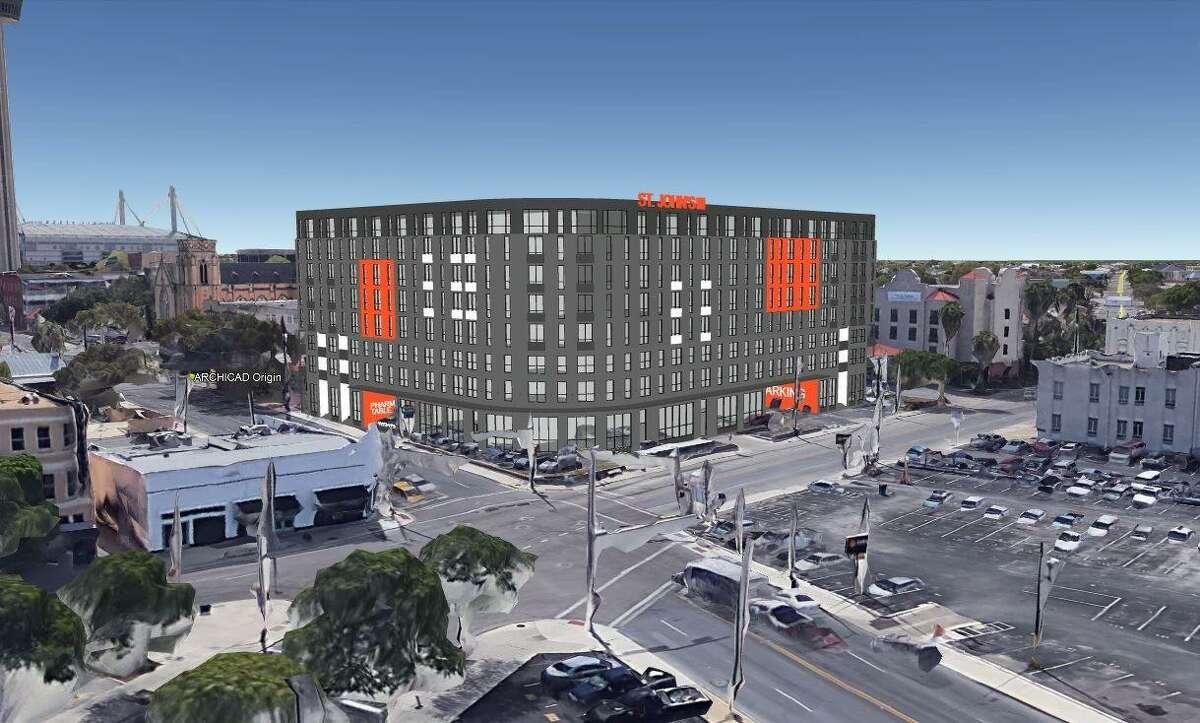 Austin-based Weal Development plans to build an 8-story, 250-unit apartment tower - dubbed St. John's Square - near the La Villita Historic Arts Village in downtown San Antonio.