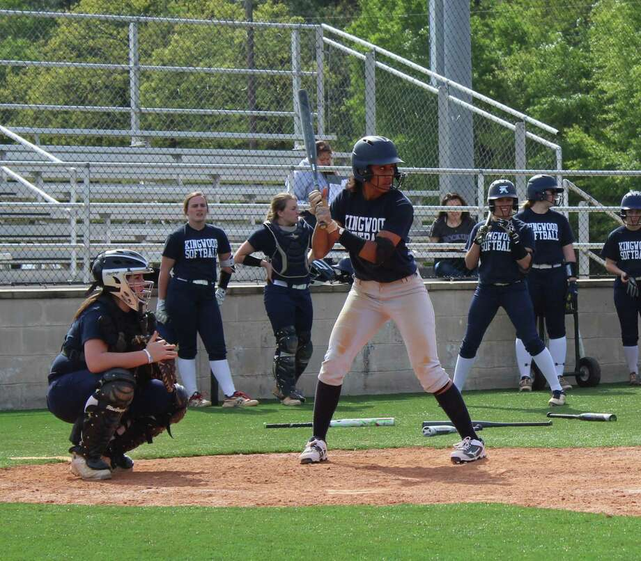 Kingwood's Jourdyn Campbell at the plate during practice. Campbell will play softball at Texas A& next year. Photo: Staff Photo/Marcus Gutierrez