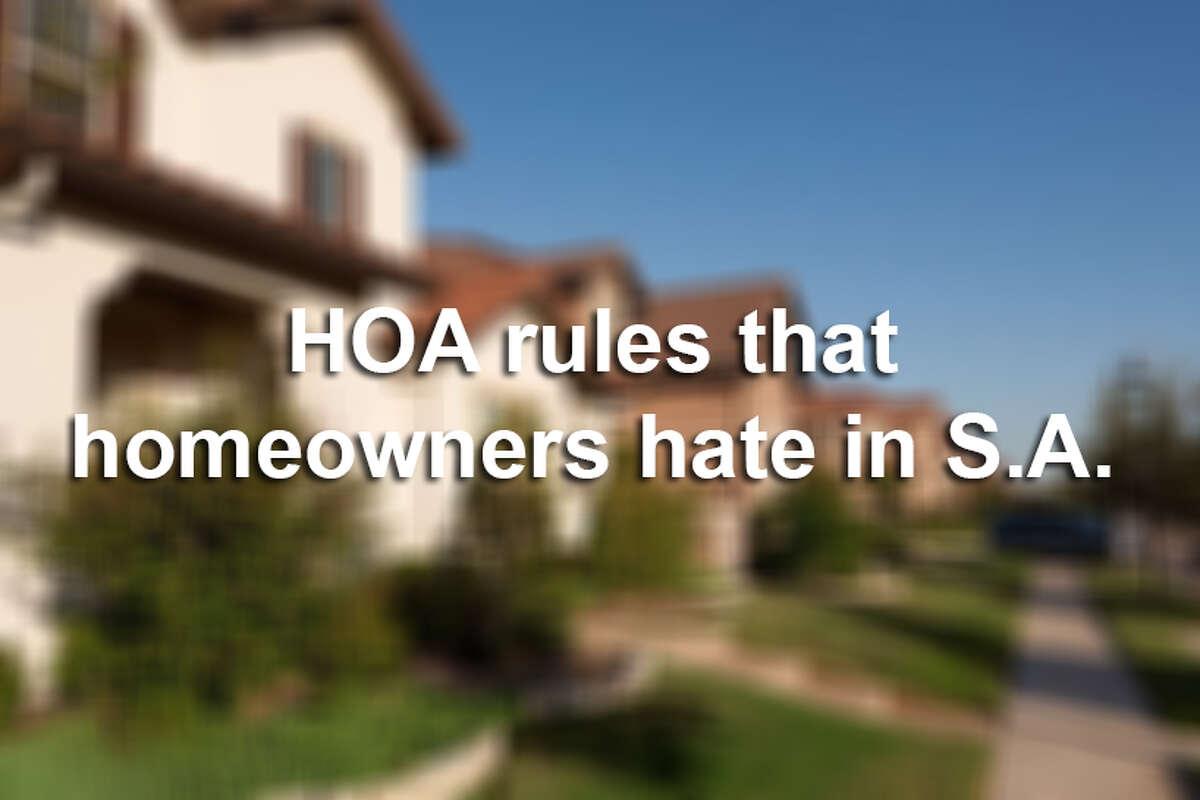 HOA rules that homeowners hate in San Antonio.