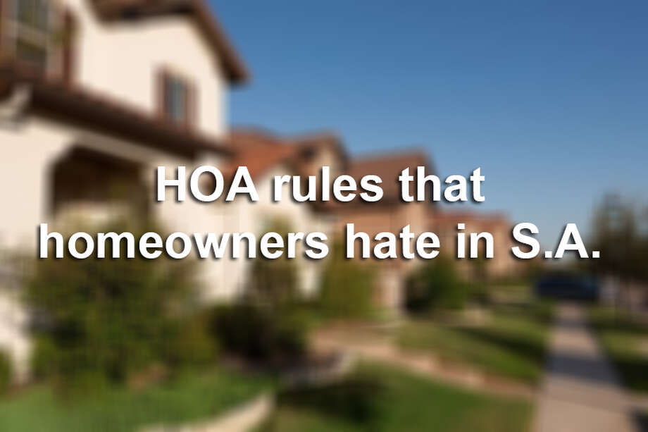 HOA rules that homeowners hate in San Antonio. Photo: Getty