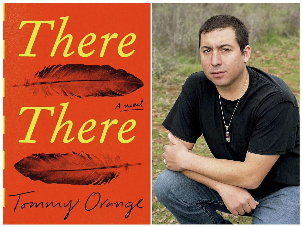 This combination photo shows a cover image of the novel