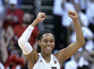 Guard Asia Durr is a two-time ACC Player of the Year for Louisville, which defeated UConn 78-69 on Jan. 31.