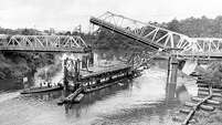 From the May 11, 1968, Houston Chronicle: Channel Dredge Stymies Traffic: Although it hasn't been opened since early in the 1950s, the 69th Street bridge over Buffalo Bayou swung upward without a hitch Friday to allow passage of a dredge that is deepening the barge canal from Jensen Dr. to the Turning Basin. Traffic was disrupted for more than two hours by the operation, which was repeated later at the Lockwood St. bridge, upstream.