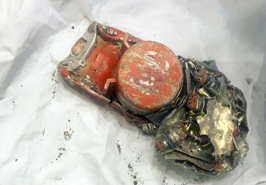 In a photo from the French Bureau of Enquiry and Analysis for Civil Aviation Safety, one of two black box recorders of the Ethiopian Airlines 737 Max that crashed outside Addis Ababa last week, in le Bourget, France, March 14, 2019. Information from the data and voice recorders from an Ethiopian Airlines jet that crashed last weekend show similarities to an earlier crash of the same type of Boeing plane used by an Indonesian airline, Ethiopia's transport ministry said. (BEA via The New York Times) -- FOR EDITORIAL USE ONLY --