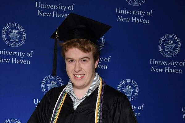 Zachary Lange in his college graduation photo.