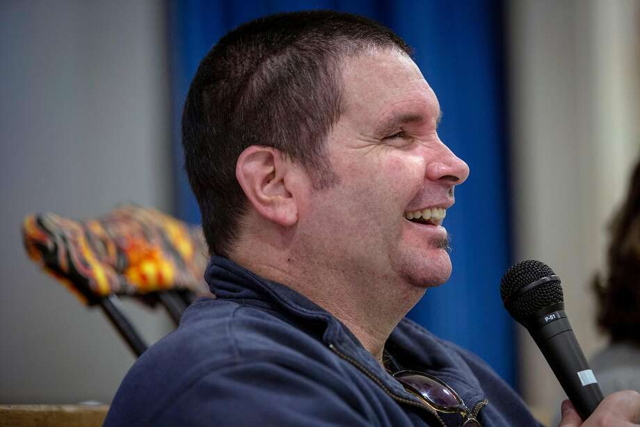 Bryan Stow talked about some of his struggles to 3rd, 4th and 5th grade students during his anti-bullying speech at the Mary Farmar Elementary School in Benicia, California, USA 1 Mar 2019. Stow is the Giants? fan who suffered a severe brain injury during assault after Opening Day game at Dodger Stadium in 2011. (Peter DaSilva/Special to The Chronicle) Photo: Peter DaSilva / Special To The Chronicle