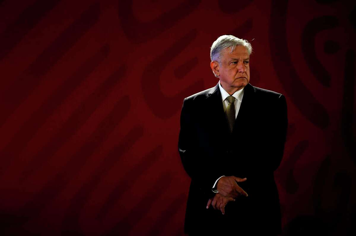 Mexican President Andres Manuel Lopez Obrador at the Palacio Nacional in Mexico City earlier this year. Despite energy market reforms put in place five years ago, Lopez Obrador is moving once again to freeze out foreign oil and gas companies and consolidate the power and influence of Pemex, the state-owned oil company.