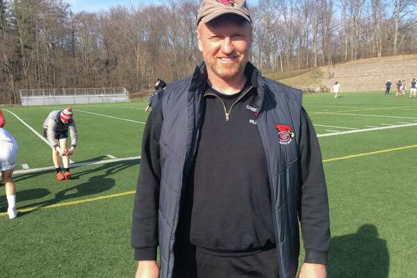 Joe Kelly is in his ninth season as coach of the Greenwich High School rugby team, which has won the state title in each of his previous years at the helm.