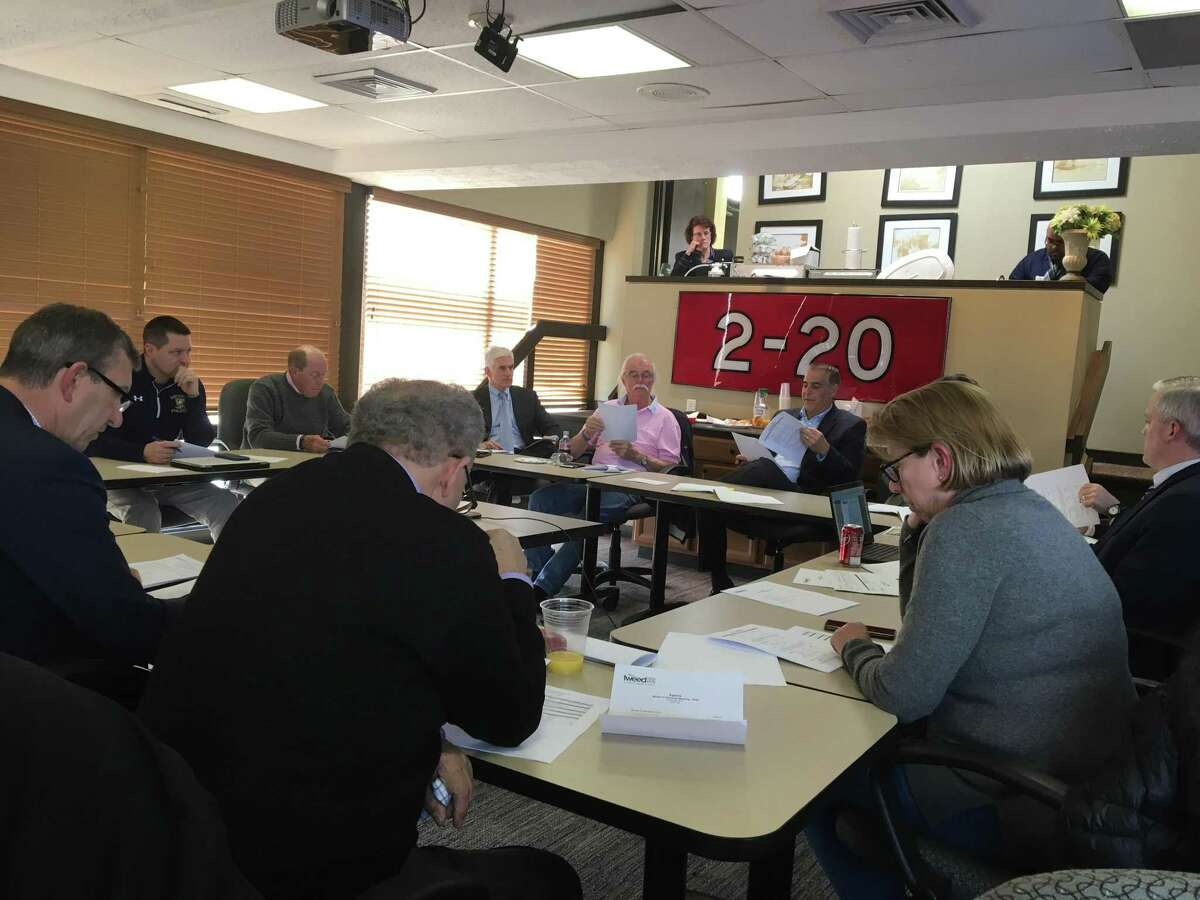 The Tweed New Haven Airport Authority meets at the airport on Wednesday, March 20, 2019.