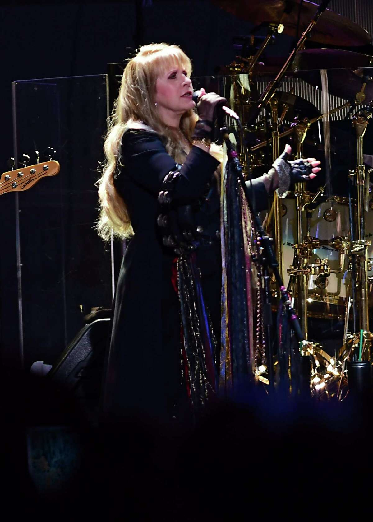 """Stevie Nicks sings """"The Chain"""" as Fleetwood Mac performs at the Times Union Center during their farewell tour on Wednesday, March 20, 2019 in Albany, N.Y. (Lori Van Buren/Times Union)"""