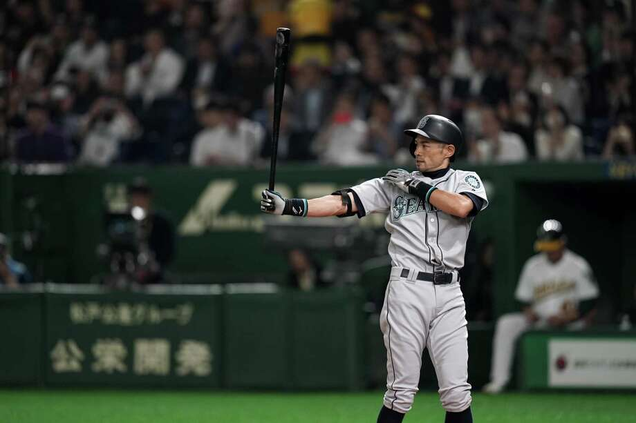TOKYO, JAPAN - MARCH 20: Outfielder Ichiro Suzuki #51 of the Seattle Mariners at bat in the 4th inning during the game between Seattle Mariners and Oakland Athletics at Tokyo Dome on March 20, 2019 in Tokyo, Japan. (Photo by Masterpress/Getty Images) Photo: Masterpress / 2019 Getty Images