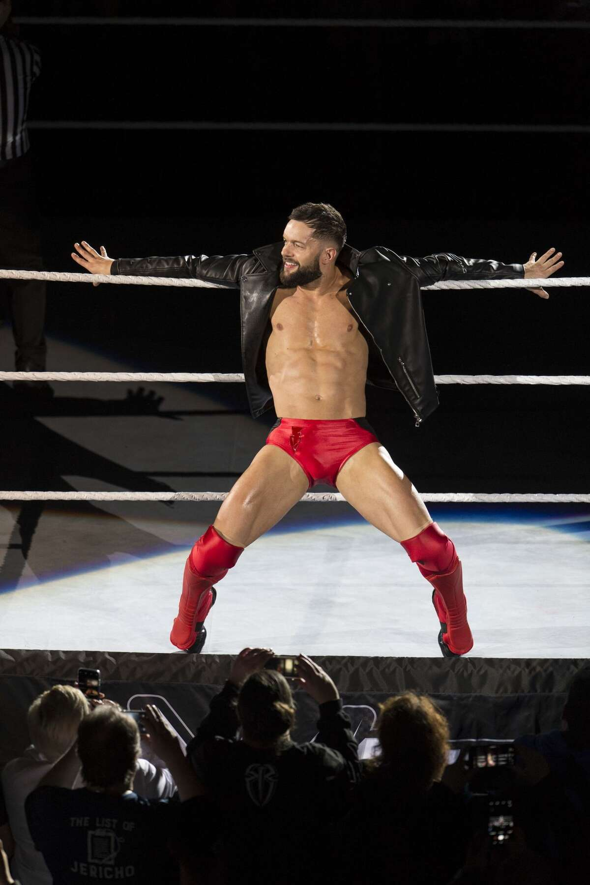 COLOGNE, GERMANY - NOVEMBER 07: Finn Balor during the WWE Live Show at Lanxess Arena on November 7, 2018 in Cologne, Germany. (Photo by Marc Pfitzenreuter/Getty Images)