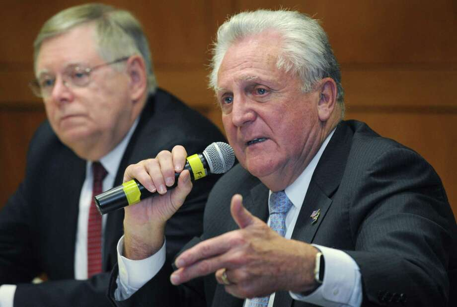 Norwalk Mayor Harry Rilling said the 2019-2020 $367 million budget featured many of the city's priorities especially its investment in the schools. Photo: Erik Trautmann / Hearst Connecticut Media / Norwalk Hour