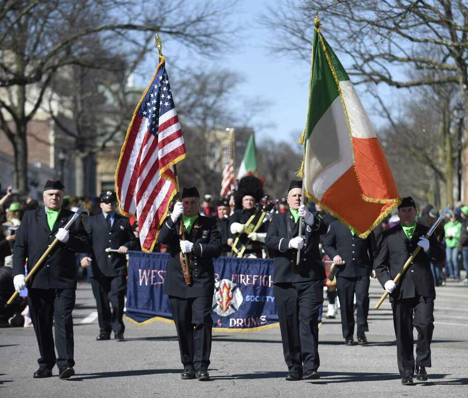 Photos from the Greenwich St. Patrick's Day Parade down Greenwich Avenue in Greenwich, Conn. Sunday, March 18, 2018. This year's parade will step off at 2 p.m. Sunday in Greenwich. Photo: Tyler Sizemore / Hearst Connecticut Media / Greenwich Time